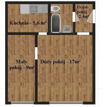 Mrągowo (miasto): Mrągowo 2 pokoje ul. Parkowe 13 Tanie mieszkanie OKAZJA