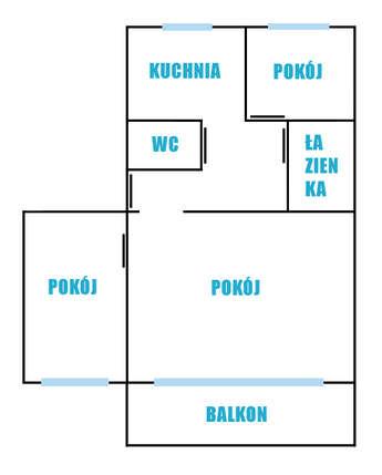 Kętrzyn (miasto): Sprzedam mieszkanie 3 pokojowe